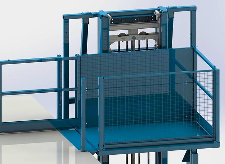 Mast driven lift industrial